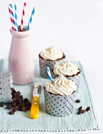 Banana 'Smoothie' Cupcakes