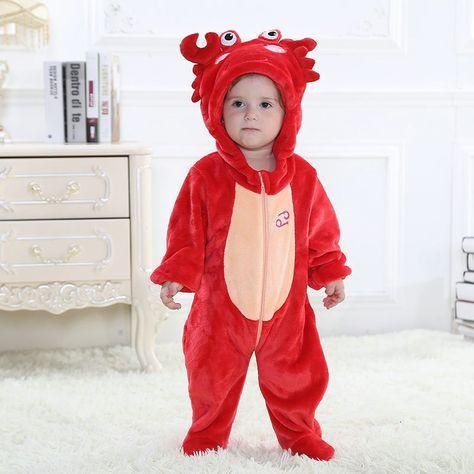 5729def16781 Cancer Zodiac Kigurumi Onesies Pajamas Costumes Toddler Pajamas for ...