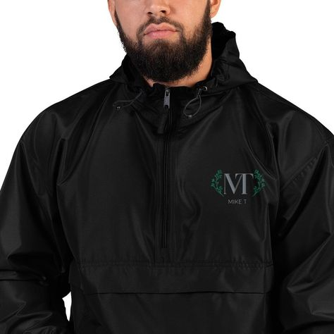 MT Embroidered Champion Packable Jacket - Black / 2XL