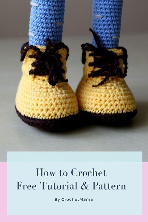 Crochet Doll - Boots & Legs - Free Tutorial & Pattern