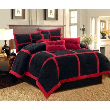 Dawn King Size 7 Piece Micro Suede Comforter Bedding Set Soft
