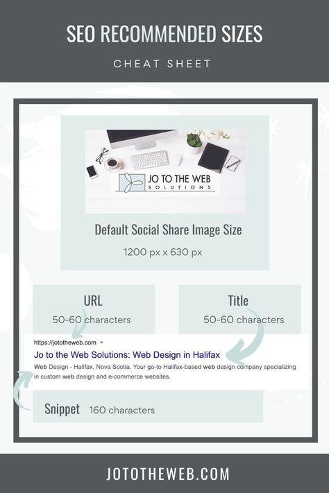 SEO Sizes & Lengths Cheat Sheet