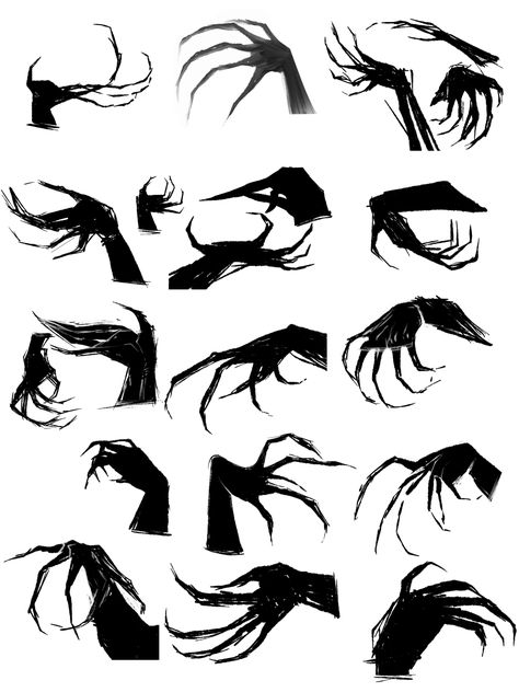 """ltimebomb: """" im depressed have some claws """" """" Demon Drawings, Dark Art Drawings, Art Drawings Sketches, Hand Drawing Reference, Drawing Reference Poses, Dessin Old School, Drawing Body Poses, Drawing Expressions, Creature Concept Art"""