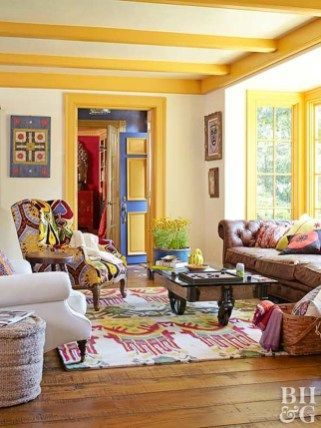 40 Wonderful Ideas For Decorating The Living Room With Yellow