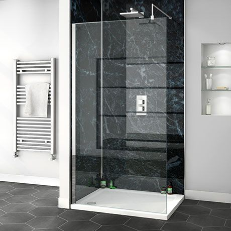 Orion Black Marble 2400x1000x10mm Pvc Shower Wall Panel Victorian Plumbing Uk In 2020 Bathroom Wall Panels Pvc Shower Bathroom Cladding