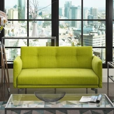 Colby 2 Seater Modern Fabric Sofa In Lime Green From The Uk S Leading Online Furniture And Bed