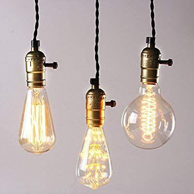 Kingso Vintage Retro Hangeleuchte Edison Antike Pendelleuchte Diy Lampe Mit Dimmbarem Schalter Und Stecker Retro Hangelampe Pendelleuchte Vintage Pendelleuchte