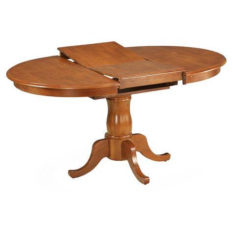 East West Furniture Portland 42 60 Inch Oval Pedestal Dining