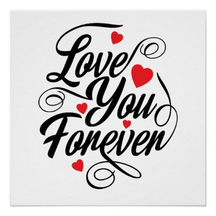 Beautiful Love Heart Quote Poster Paper - cyo diy customize unique design gift idea perfect