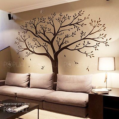Giant Family Tree Wall Sticker Vinyl Art Home Decals Room Decor Mural Original Family Tree Wall Family Tree Mural Tree Wall
