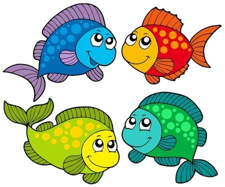 Cute Cartoon Fishes Collection Vector Illustration Cartoon Fish Cute Cartoon Fish Clip Art