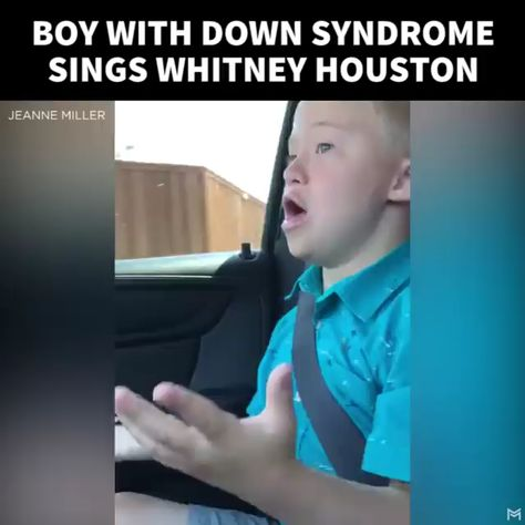 Boy With Down Syndrome Sings Whitney Houston