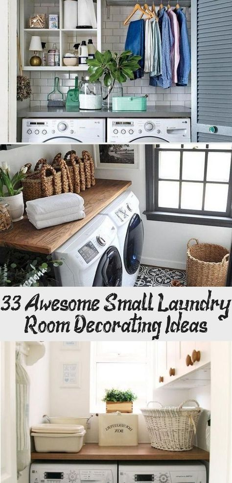 33+ Awesome Small Laundry Room Decorating Ideas #laundryroomideas #laundryroomma...  33+ Awesome Small Laundry Room Decorating Ideas #laundryroomideas #laundryroommakeover #laundryroom #Awesome #decorating #Ideas #Laundry #laundryroomideas #LaundryRoomma #Room #Small