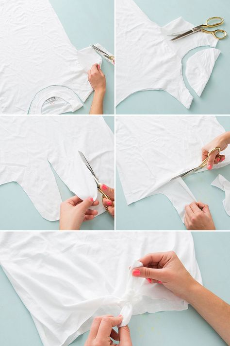 10 Ways To Cut Up Restyle A Plain White T Shirt
