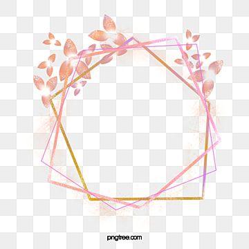Elegant Coral Rose Gold Artistic Frame Png Element Gold Rose Gold Frame Png Transparent Clipart Image And Psd File For Free Download Geometric Rose Leaf Border Gold Geometric