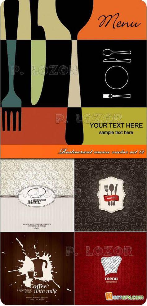 Restaurant menu designs vector Art Pinterest Restaurant menu