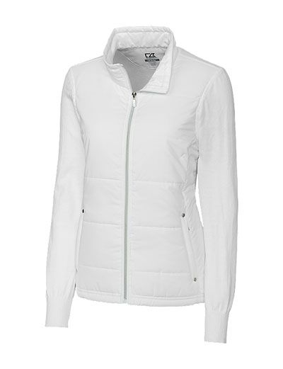Cutter & Buck Ladies WeatherTec™ Cora Quilted White or Black Golf ...