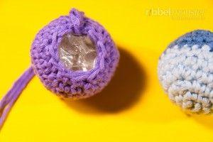 Katzenspielzeug häkeln - Ball - Knisterball