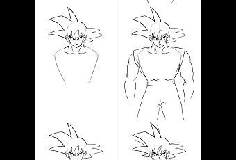 Como Dibujar A Goku Para Principiantes En Cuerpo Completo Paperblog Como Dibujar A Goku Dibujo De Goku Como Dibujar