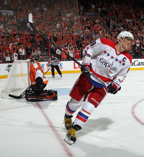 Ovechkin skates off after failing to score on Bryzgalov in the