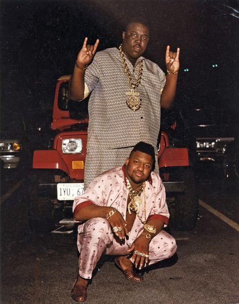 Fendi and MCM Walking Suits Image courtesy of Dapper Dan of Harlem