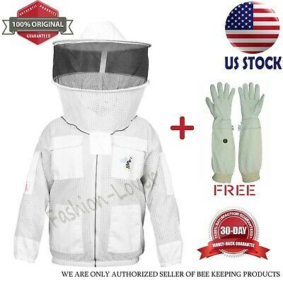 Size 3XL Beekeepers White Round Jacket