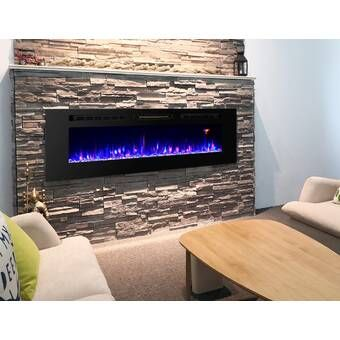 Pacific Heat Recessed Wall Mounted Electric Fireplace Reviews Wayfair In 2021 Wall Mount Electric Fireplace Wall Mounted Fireplace Electric Fireplace Wall mount electric fireplace reviews
