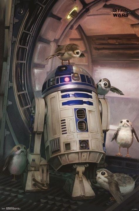 Star Wars The Last Jedi - Droid & Porg Poster Print (22 x 34)