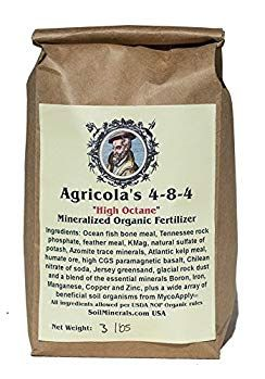 Agricola S 4 8 4 High Octane Mineralized Organic Fertilizer 3 Lbs