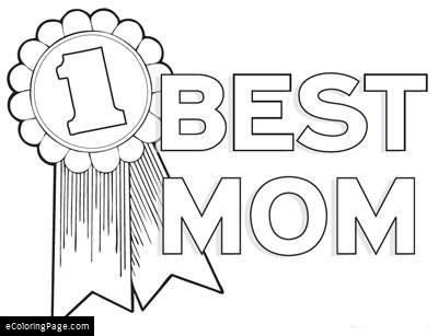 1 Best Mom Award Coloring Page Fathers Day Coloring Page