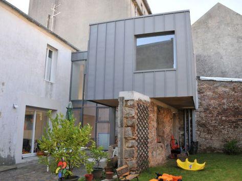 Extension en zinc briand - renault Architectes Architecture - extension maison prix au m