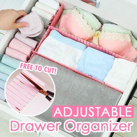 DIY Drawer Division Board (Set of 4) - PINK