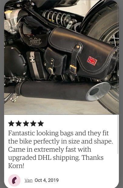 Triumph Bobber Saddlebags : triumph, bobber, saddlebags, New)Triumph, Bobber, Speed, Master, Saddle, Genuine, Leather, Grade, (LEFT), Triumph, Bobber,, Bags,, Custom