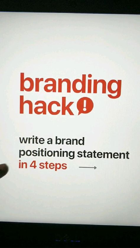 Create your Brand Positioning Statement?