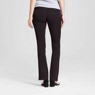 Maternity Crossover Panel Bootcut Trouser - Isabel Maternity by Ingrid & Isabel Black 4, Women's