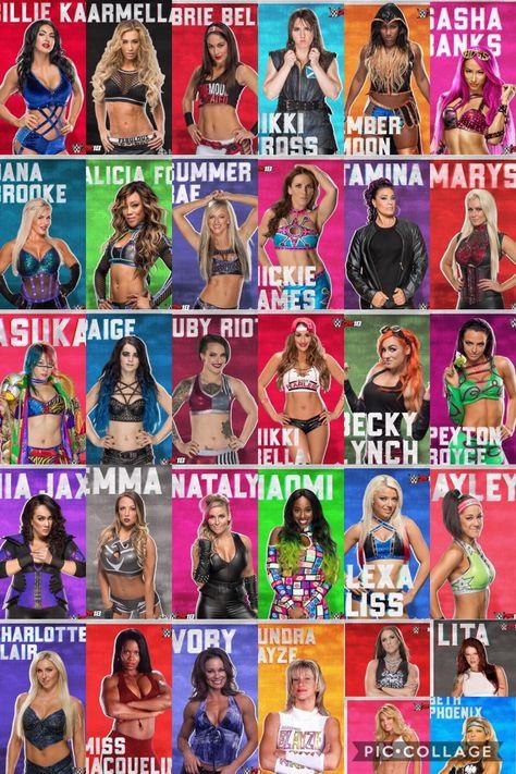 Superstars wwe list women RAW Superstars