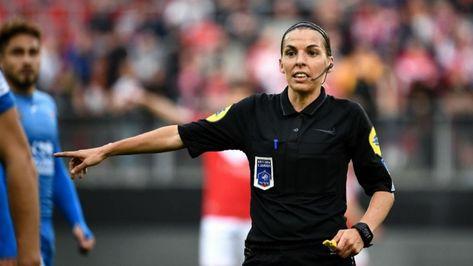 Stéphanie Frappart first female football referee,