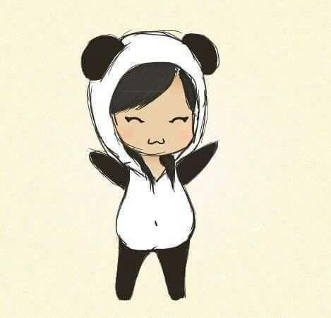 Pin By Nadija Omeragic On Anime How To Draw Kawaii Girl Drawings Panda Drawing Princess Drawings