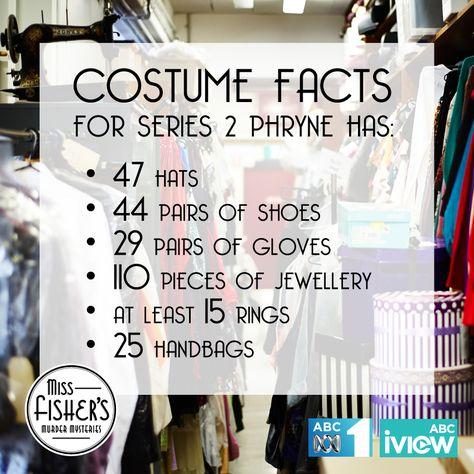 #MissFisher #PhryneFisher #fashion #costumes #behindthescenes
