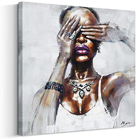 Amazon Com Artinme Canvas Wall Art African American Wall Art Black Art Painting On Canvas Moder African American Wall Art Black Art Painting Wall Art Painting