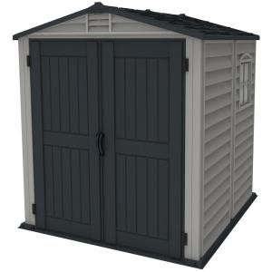 Duramax Building Products Store Mate Plus 6 Ft X 6 Ft Vinyl Shed With Floor 30425 The Home Depot Vinyl Sheds Outdoor Storage Sheds Shed