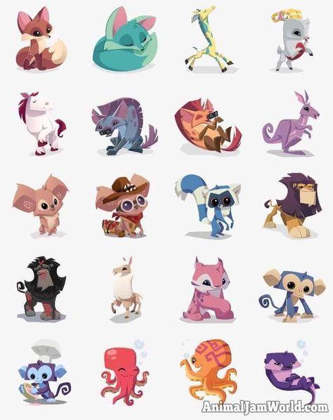 Animal Jam Stickers App for iOS www.