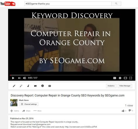 Watch Seogame How To Video Discovery Report Computer Repair