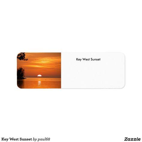 Key West Sunset Label | Zazzle.com