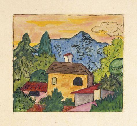 Hermann Hesse Tessiner Dorf Im Morgenlicht 1924 Cores Infantil