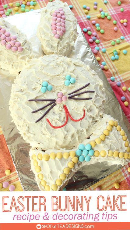 Easter Bunny Cake Recipe And Decorating Tips Easter Bunny Cake