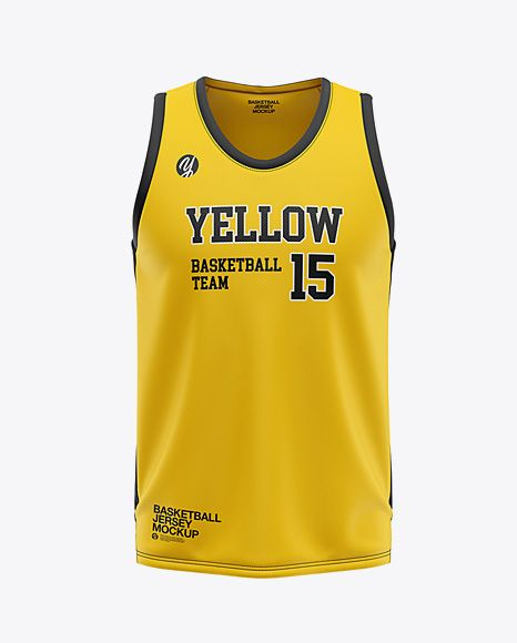 Download Men S U Neck Basketball Jersey Mockup Front View In Apparel Mockups On Yellow Images Object Mockups Mockup Template Football