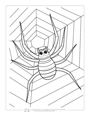 Halloween Coloring Pages For Kids Spider Coloring Page Halloween Coloring Halloween Coloring Pages