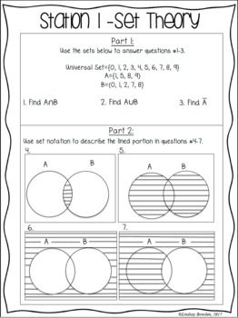 Probability Stations Probability Worksheets Geometry Activities High School Free Printable Math Worksheets