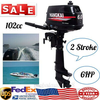 Advertisement Ebay 6hp 2 Stroke Outboard Motor Fishing Boat Engine 102cc 4 4kw Water Cooling System Boat Engine Outboard Motors Outboard Boat Motors